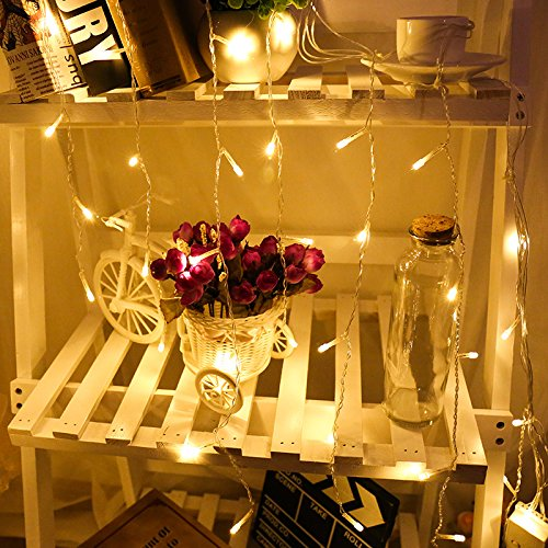 AC110-220V LED ijspegels gordijn licht slinger lamp hanger 3m voor bruiloft buiten tuindecoratie warme kleur