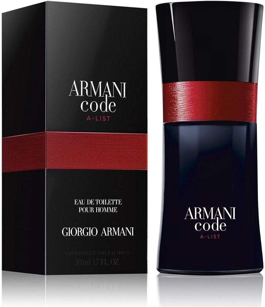Armani code, profumo,  eau de toilette uomo , 50 ml 3614272202269