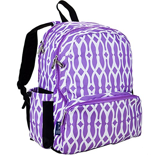 Wildkin 17 Inch Kids Backpack for Boys & Girls, Features Three Zippered Compartment with Interior & Side Pockets Backpacks, Perfect for School & Travel Backpack for Kids, BPA-free (Wishbone)