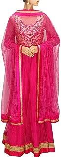 Pink Color Gota Patti Anarkali Gown