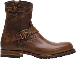 FRYE Mens Logan Engineer Inside Zip Up Round Toe Boots