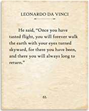 DaVinci - Once You Have Tasted Flight - 11x14 Unframed Typography Book Page Print - Great Gift for Book Lovers, Also Makes a Great Gift Under $15