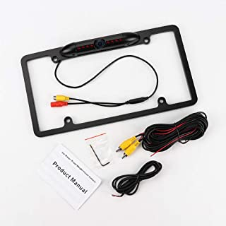 AXECO License Plate Frame Backup Camera, Rear View Camera Reverse Parking Aid System 170° Viewing Angle Universal Car Truc... photo