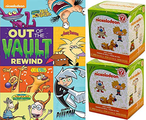 Nick Fig & Vault Nickelodeon Episodes Cat Dog / Wild Thornberrys / Real Monsters / Danny Phantom / Angry Beavers Rewind Cartoon Blast + Crazy Mystery Figure Retro Pack