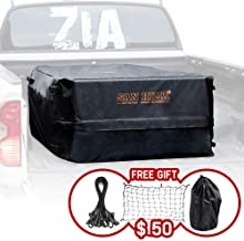 FieryRed Truck Cargo Bag with Cargo Net,100% Waterproof Heavy Duty Truck Bed Storage Bag, 8 Rubber Handles Fits Any Truck, Size: 50