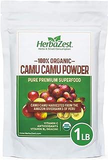 Camu Camu Powder Organic - 16 Ounce (1 Full LB) - Nutrient-Rich and Best Source of Vitamin C - Vegan & USDA Certified - Gl...