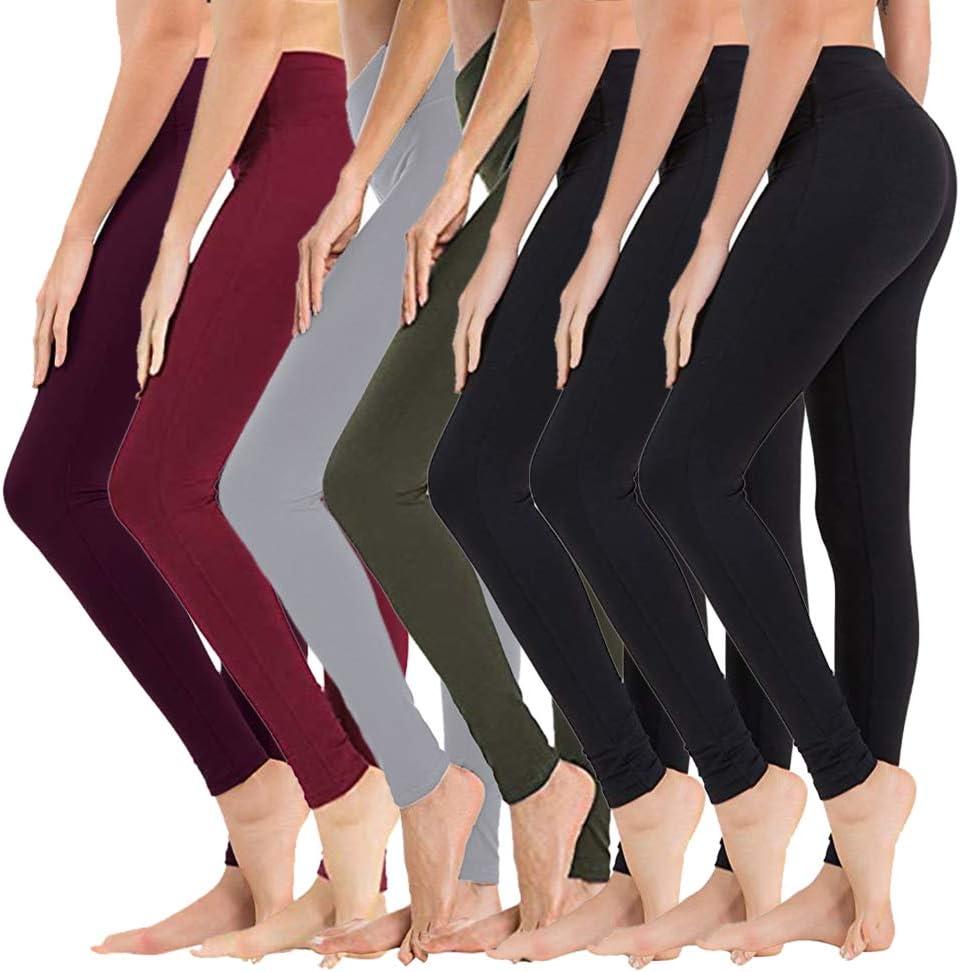 7 Pack High Waisted Japan Maker New Leggings for Women Con - Athletic Tummy 2021 Soft