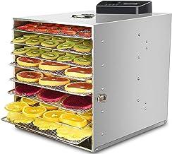 Máquina de conservación de alimentos para el hogar Deshidratador de alimentos, silenciador de temperatura ajustable inteligente con pantalla táctil táctil eléctrica con 8 capas de bandeja de acero ino