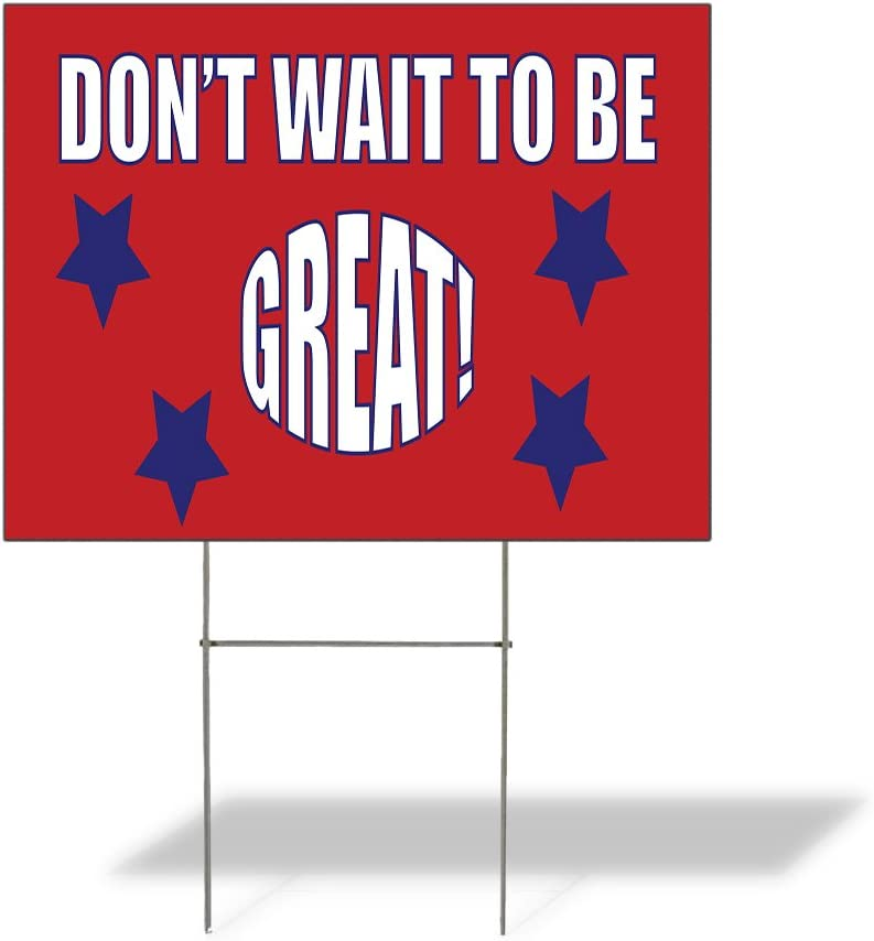 Fastasticdeals Weatherproof Yard Sign Don't to Minneapolis Mall Be Great Ad Wait Max 87% OFF