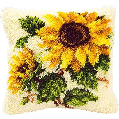 Kits de Crochet de Loquet Kit de Fabrication de Tapis de Housse de Coussin DIY pour Enfants/Adultes Kits de Crochet de Loquet Kit de Broderie de Taie d'oreiller 17\