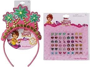Fancy Nancy Tiara Headband and Sticker Earrings