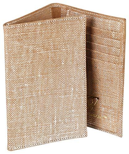 Clairefontaine 410053C Kartenetui KLEO-PATHRA, aus Lammleder, 15 x 1 x 10cm, 1 Stück, Silber