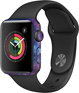 MightySkins Skin Compatible with Apple Watch Series 3 42mm - Nebula   Protective, Durable, and Unique Vinyl Decal wrap Cover   Easy to Apply, Remove, and Change Styles   Made in The USA