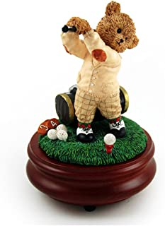 Thread Bears - Over 400 Song Choices - The Perfect Swing with Golfer Threadbear Musical Figurine Music of The Night (Phantom of The Opera)