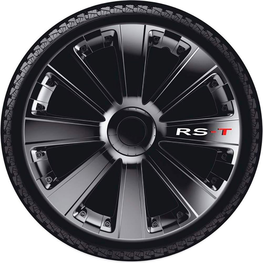 AUTOSTYLE RST Black Juego de 4 Tapacubos RS-T 16 Pulgadas Negro: Amazon.es: Coche y moto