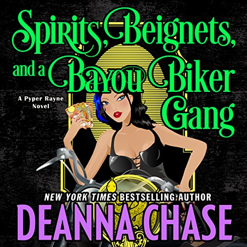 Spirits, Beignets, and a Bayou Biker Gang audiobook cover art