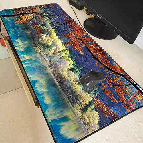 Mauspad Large Baum Blume Landschaft Große Mauspad Gaming Mouse Pad Sperre Rand Mauspad für Laptop Computer Schreibtisch Pad Tastaturmatte 400X800X2 Mm