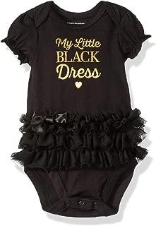 little black dress baby onesie