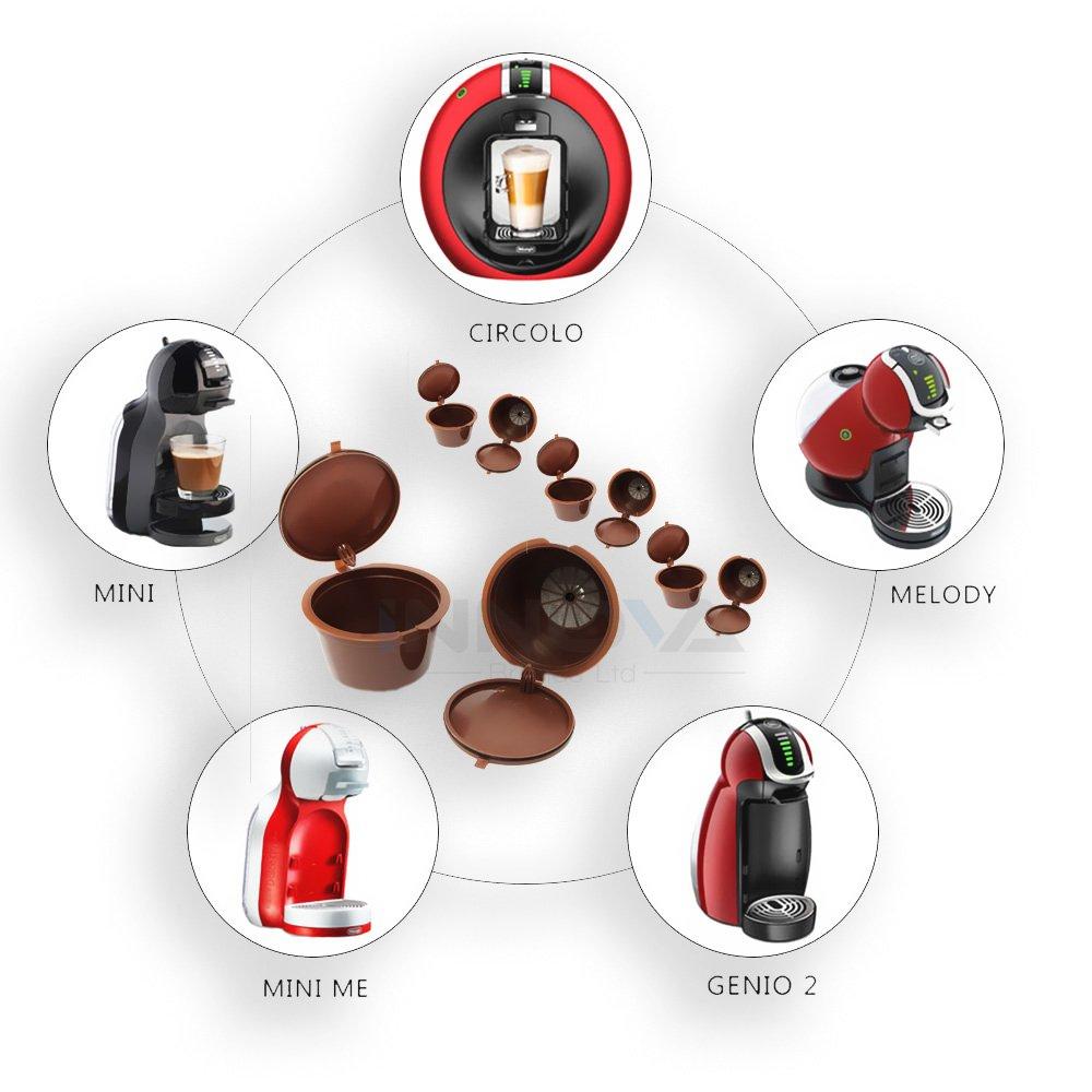 Innova® Reutilizable para filtros de cápsulas de café Dolce Gusto reutilización Recambio taza de café 8: Amazon.es: Hogar