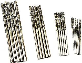 Assorted Pack of 20pcs. 4 Sizes 1mm 1.5mm 2mm 2.5mm Diamond Twist Drill Bit Jewelry Beach Sea Glass Shells Gemstones Lapidary