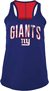 5th & Ocean New York Giants Women's Foil Wordmark Racerback Tank Top