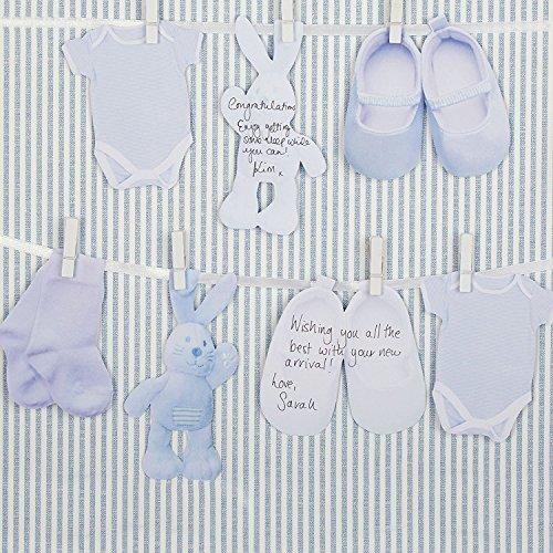 Gastenboek alternatief in blauw/slinger voor de doop van je baby - geboorte jongen - baby shower party