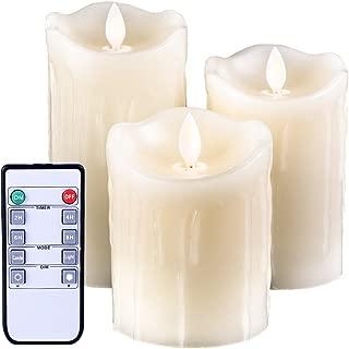flickering led pillar candles