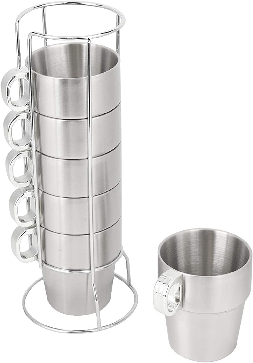 70% OFF Outlet Coffee Cup Reusable Stackable Drink Mug W Stand with Holder unisex