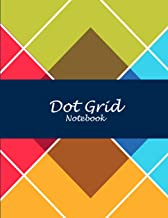 Dot Grid Notebook: Colorful Art, 8.5 X 11 Dot Grid Sketchbook Journal, Daily Notebook to Write In, Dotted Journal