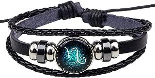 HIRIRI Hot Sale Unisex 12 Constellations Bracelet Fashion Jewelry Alloy Leather Bracelet Personality Bracelet Gift