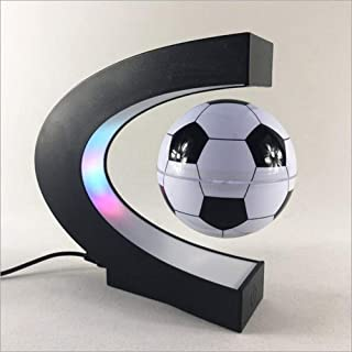 XAJGW C Shape Magnetic Levitation Floating Football Maglev with LED Light for Teaching Home Office Desk Decoration,Educational Gifts for Kids, Home Office Desk Decoration