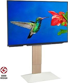 【グッドデザイン賞受賞】EQUALS イコールズ WALL[ウォール] 壁寄せテレビスタンド V3 ハイタイプ 32~80V対応 ホワイトオーク