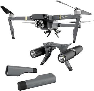Landing Gear for飛行機、vanvler新しい拡張Landing Gear with LEDヘッドランプセットfor DJI Mavic Pro ブラック Vanvler
