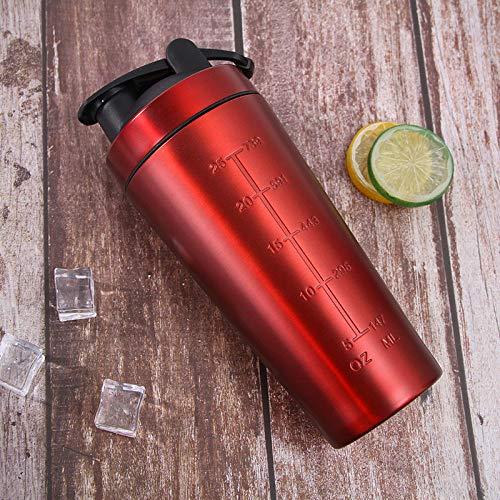Jusemoa - Botella de agua de acero inoxidable para deportes al aire libre de una sola capa, 960 ml-rojo_960 ml
