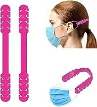 TBOC Verstelbare Maskerverlengingshaak - [Pack 2 Eenheden] Extender Haken [Fuchsia] Siliconen Hook met Grepen Anti-Aanspan...