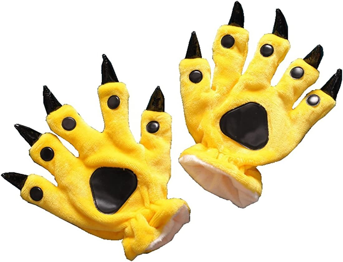 SHDIBA Animal Paw Claw Gloves Halloween Cospaly Costume Gloves For Unisex Adult Winter