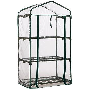 Copertura di ricambio per serra anti-UV impermeabile trasparente per piante da giardinaggio ASOSMOS in PVC small 3 ripiani