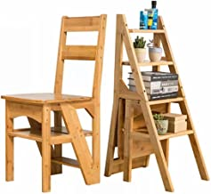 Wood Folding Chair Turns to Staircase (Drawer)