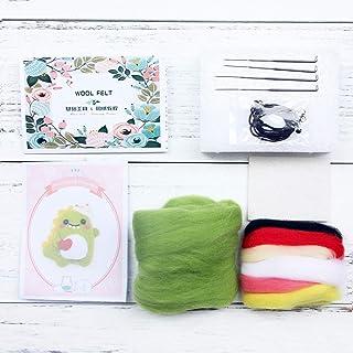 Fugift Juego de manualidades de fieltro de lana para manualidades sin terminar, para manualidades