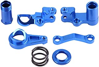 Dilwe Steering Servo Saver Complete Part Kit, Aluminium Alloy Steering Servo Saver for Traxxas Slash 4X4 1/10 Truck RC Car RC Model Part Accessory
