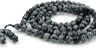 OVALBUY 108 Snow Dots Beads Buddhist Prayer Rosary Mala