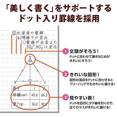 『コクヨ ノート キャンパスノート 限定 ミスドクラシック 5冊 A罫 ドット入り ノ-3CATN-L19X5』の5枚目の画像