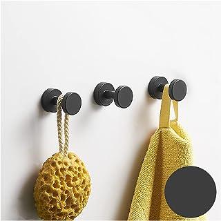 Wall-Mounted Coat Rack Adhesive Hook, Self Adhesive Black Wall Mounted Coat Rack for Hanging Coats Hats Towels Ultra Durab...