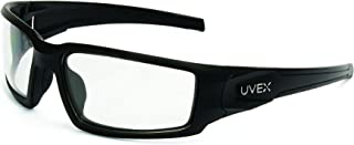 Uvex by Honeywell Hypershock Safety Glasses, Black Frame with Clear Lens & HydroShield Anti-Fog Coating (S2940HS)