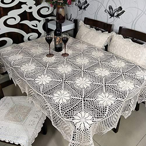 HDFG - Mantel de Crochet Hecho a Mano, diseño Vintage, 150 * 220cm