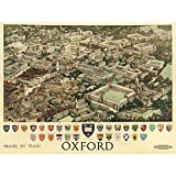 Wee Blue Coo Travel Oxford England British Railways Crest Coat of Arms Heraldry Unframed Wall Art Print Poster Home Decor Premium