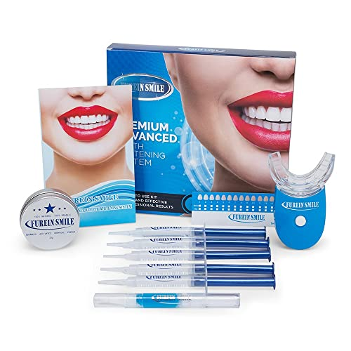 FUREIN SMILE Kits de blanqueamiento dental con gel de remineralización + dientes al carbón que blanquean