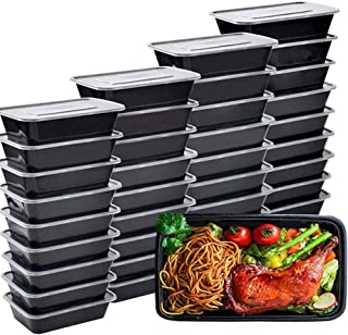 IUMÉ 50-Pack Meal Prep Container, 750ML/ 26 OZ Microwavable Food Containers with Lids for Meal Prepping ,Disposable Plasti...