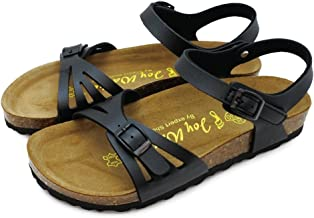 [ジョイウォーカー] サンダル レディース ぺたんこ フラット 歩きやすい ストラップ マジックテープ 夏 コンフォートサンダル 118P