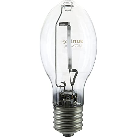 Sunlite 03625-SU LU70/MOG 70 Watt High Pressure Sodium Light Bulb, Mogul Base (E39), ANSI Code S62, 6300 Lumen, 24000 Life Hours, Clear, 2100K